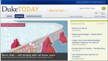 Screenshot of Duke Today's opinion page - today.duke.edu/opinion