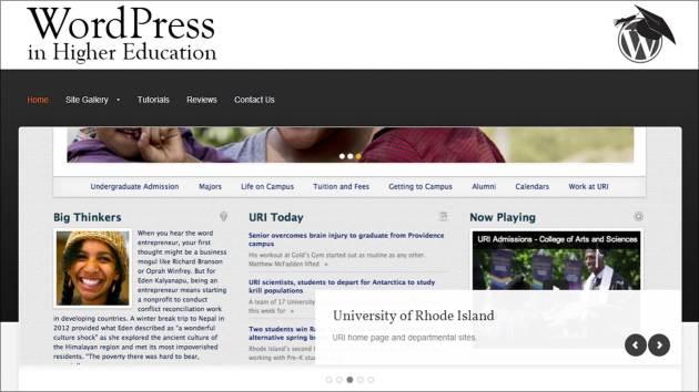 Screenshot of the WPHighEd website (wphighed.org)
