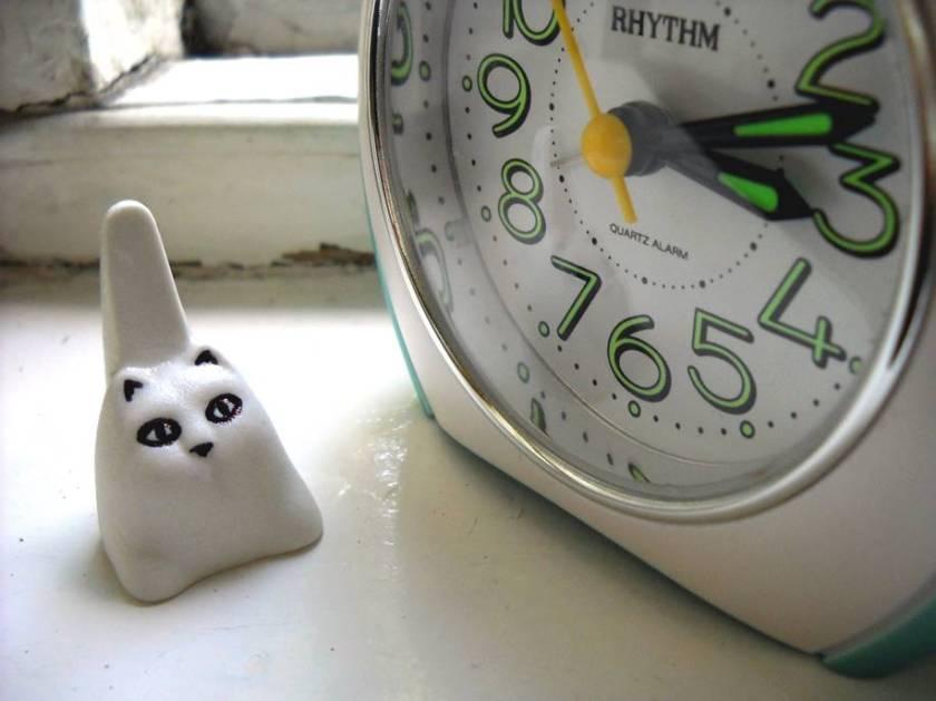 clock+cat