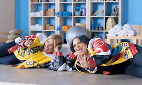 Salt-N-Pepa are pushin' Geico. They're pushin' Geico real good.