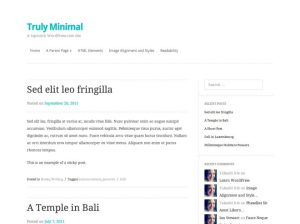 The new WordPress theme for this blog is appropriately titled Truly Minimal.