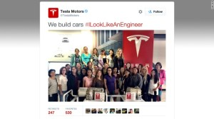 Twenty-seven female engineers at Tesla are among those who have picked up on the #ILookLikeAnEngiineer hashtag